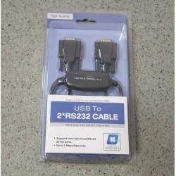 Převodník USB 2.0 - 2 x RS232