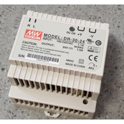 Zdroj 230V/24V 30W na DIN lištu
